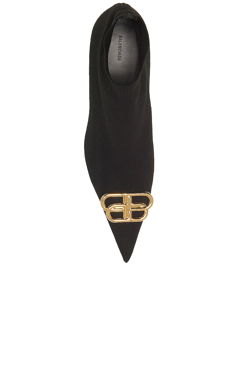 Image 4 of Balenciaga BB Knife Knit Booties in Black & Gold
