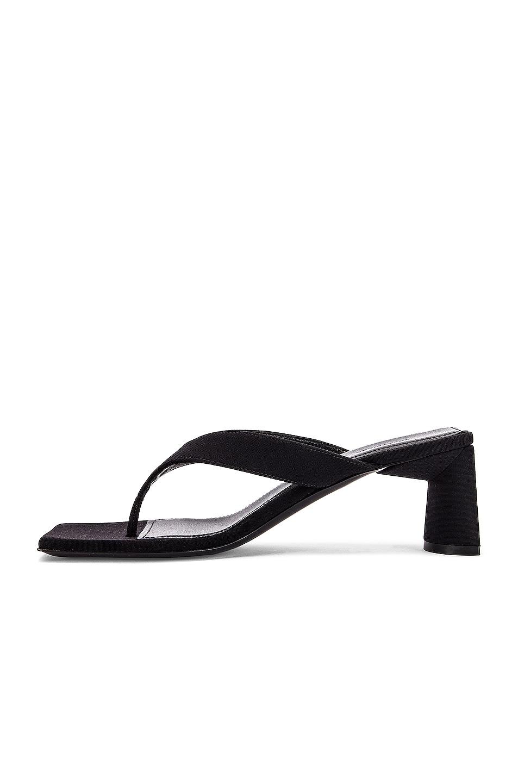 Image 5 of Balenciaga Logo Double Square Sandals in Black & White