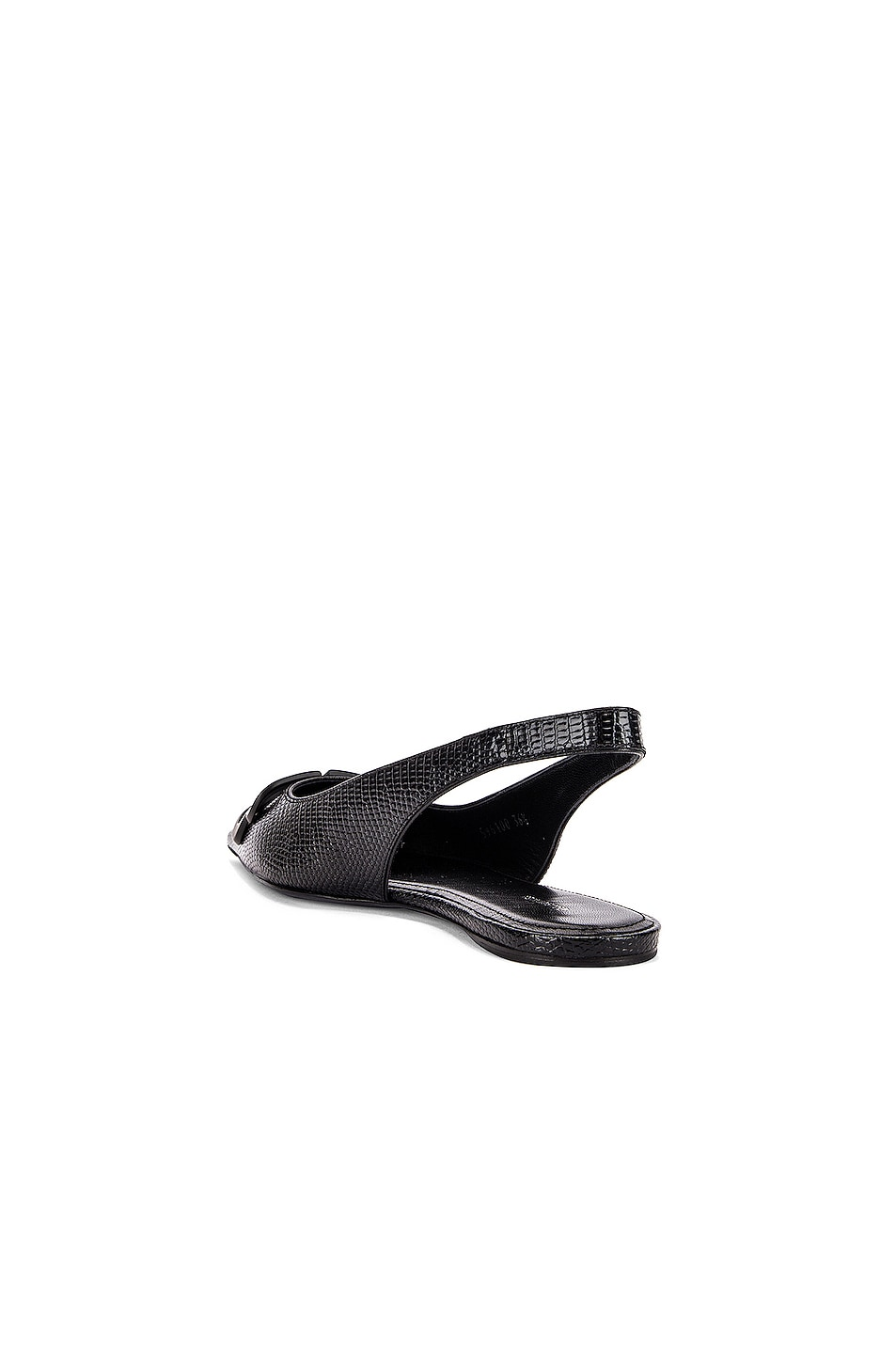 Image 4 of Balenciaga BB Slingback Flats in Black & Black