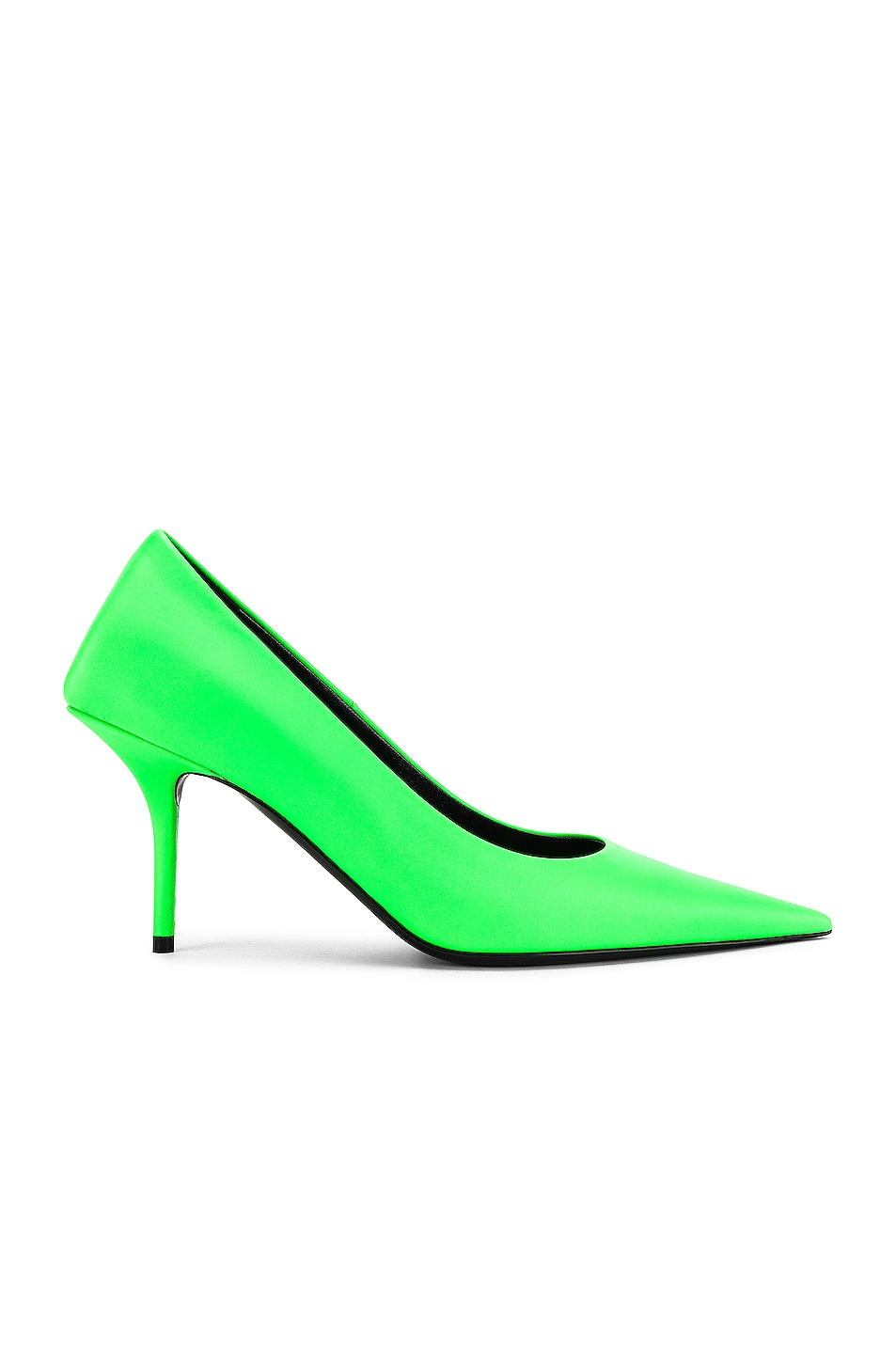 Image 1 of Balenciaga Square Knife Pumps in Fluo Green