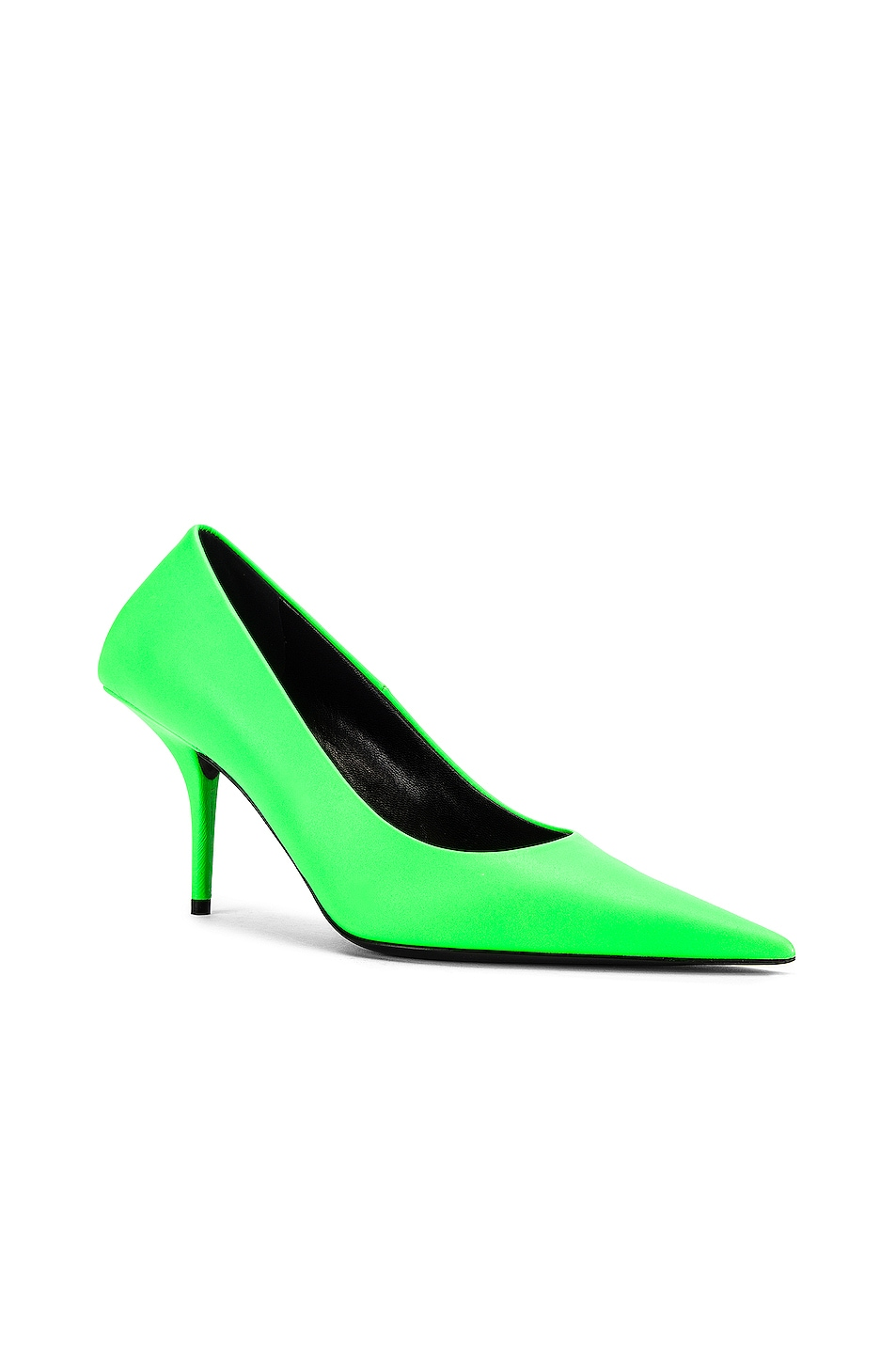 Image 2 of Balenciaga Square Knife Pumps in Fluo Green