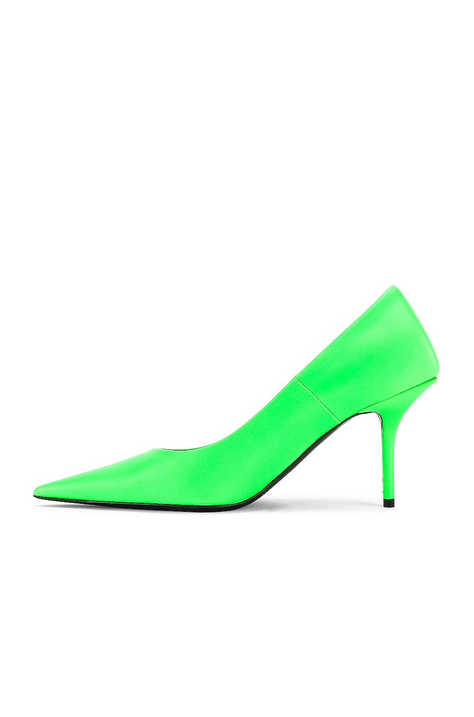 Image 5 of Balenciaga Square Knife Pumps in Fluo Green