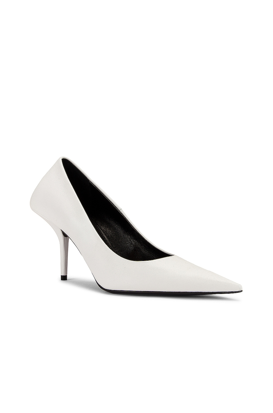 Image 2 of Balenciaga Square Knife Pumps in White