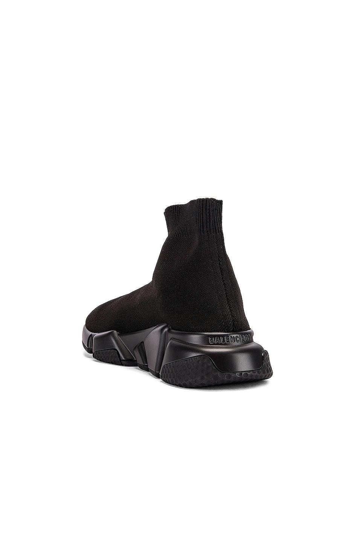 Image 4 of Balenciaga Graffiti Speed Sneakers in Black & White