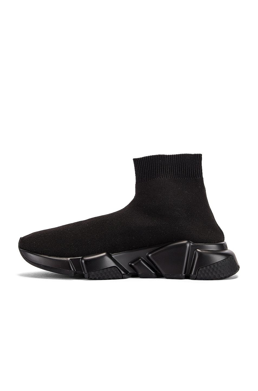 Image 5 of Balenciaga Graffiti Speed Sneakers in Black & White