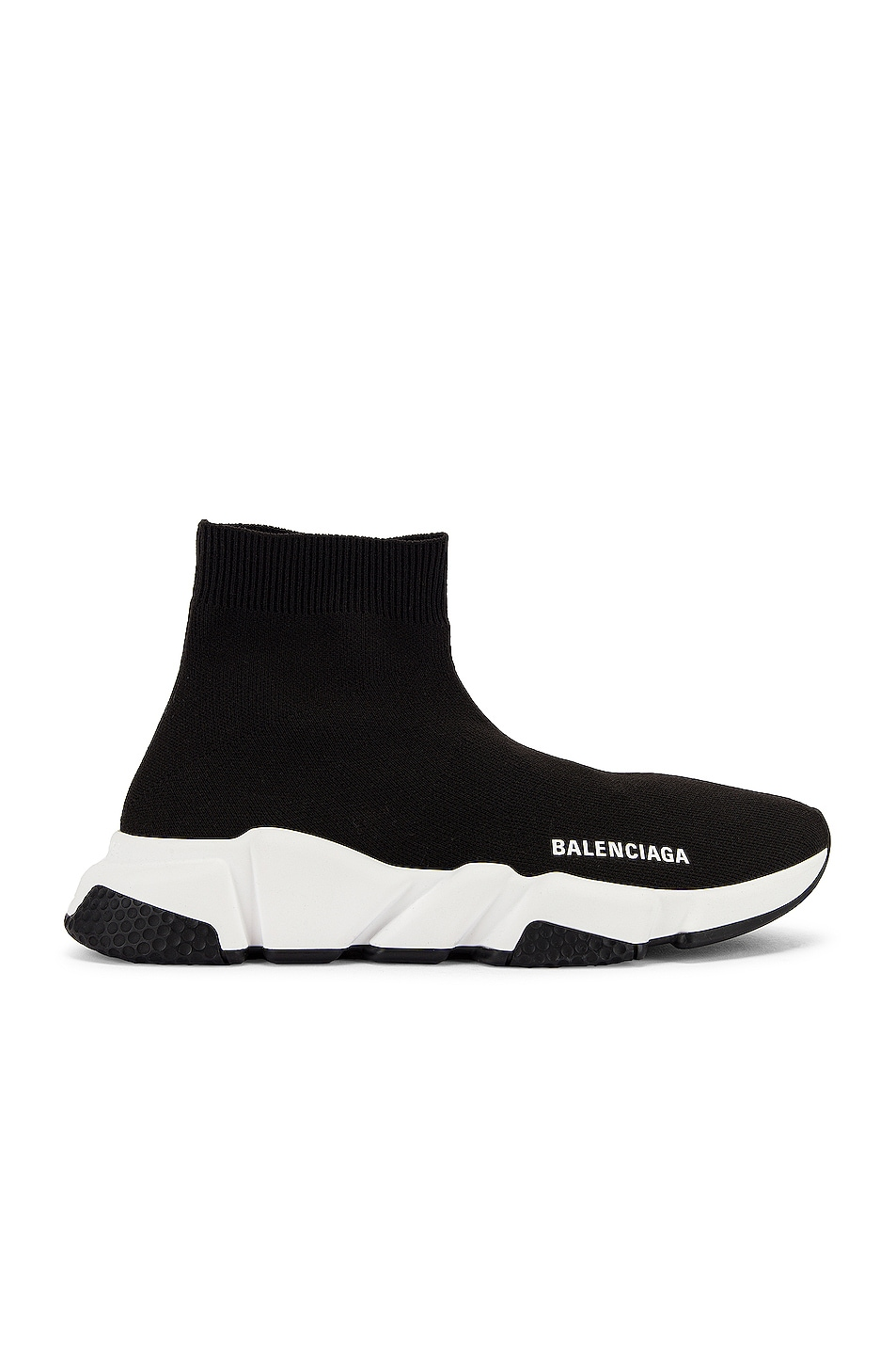 Image 1 of Balenciaga Bicolor Speed Sneakers in Black & White