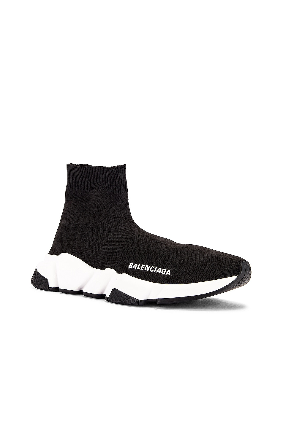 Image 2 of Balenciaga Bicolor Speed Sneakers in Black & White