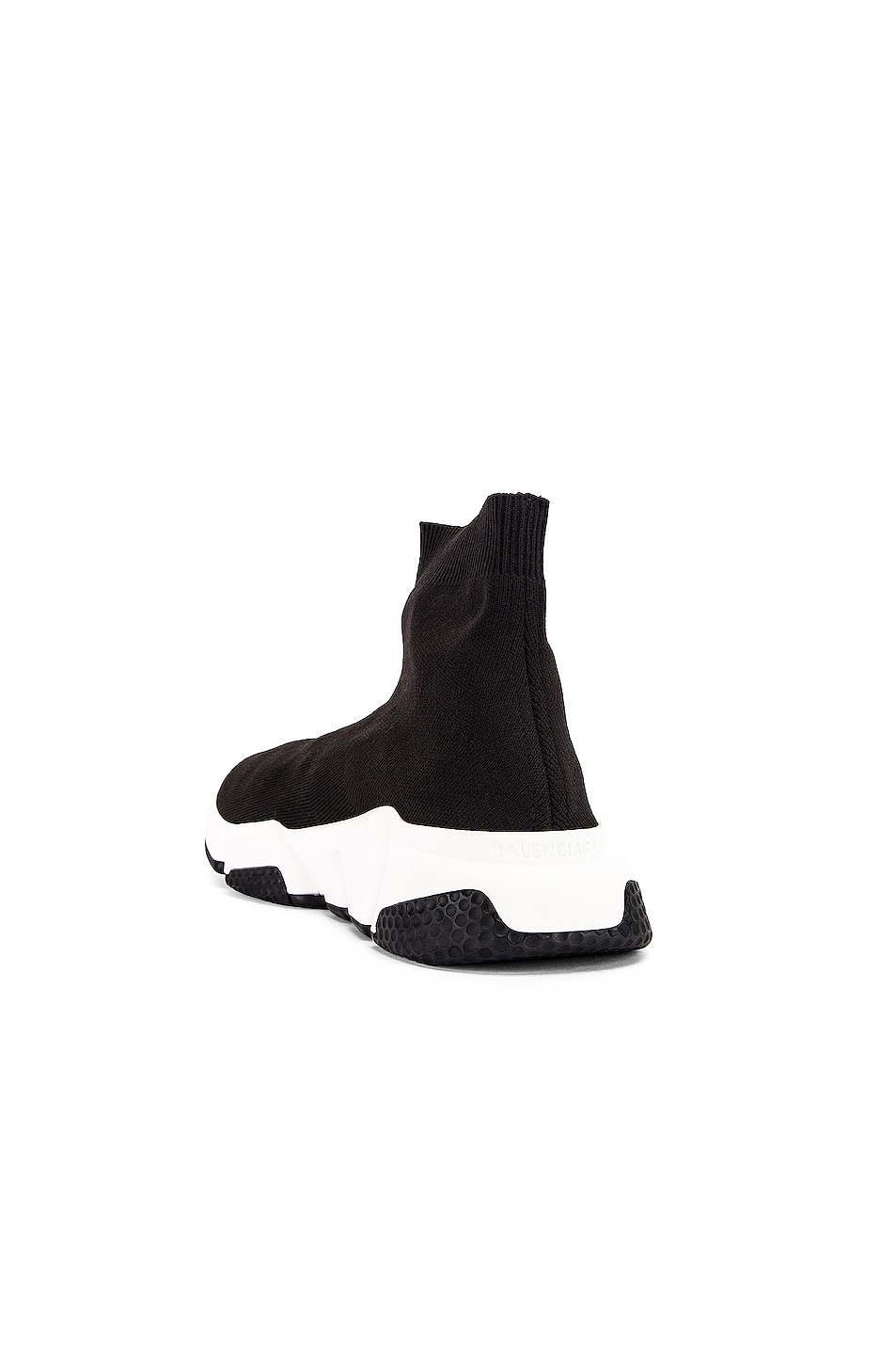 Image 3 of Balenciaga Bicolor Speed Sneakers in Black & White