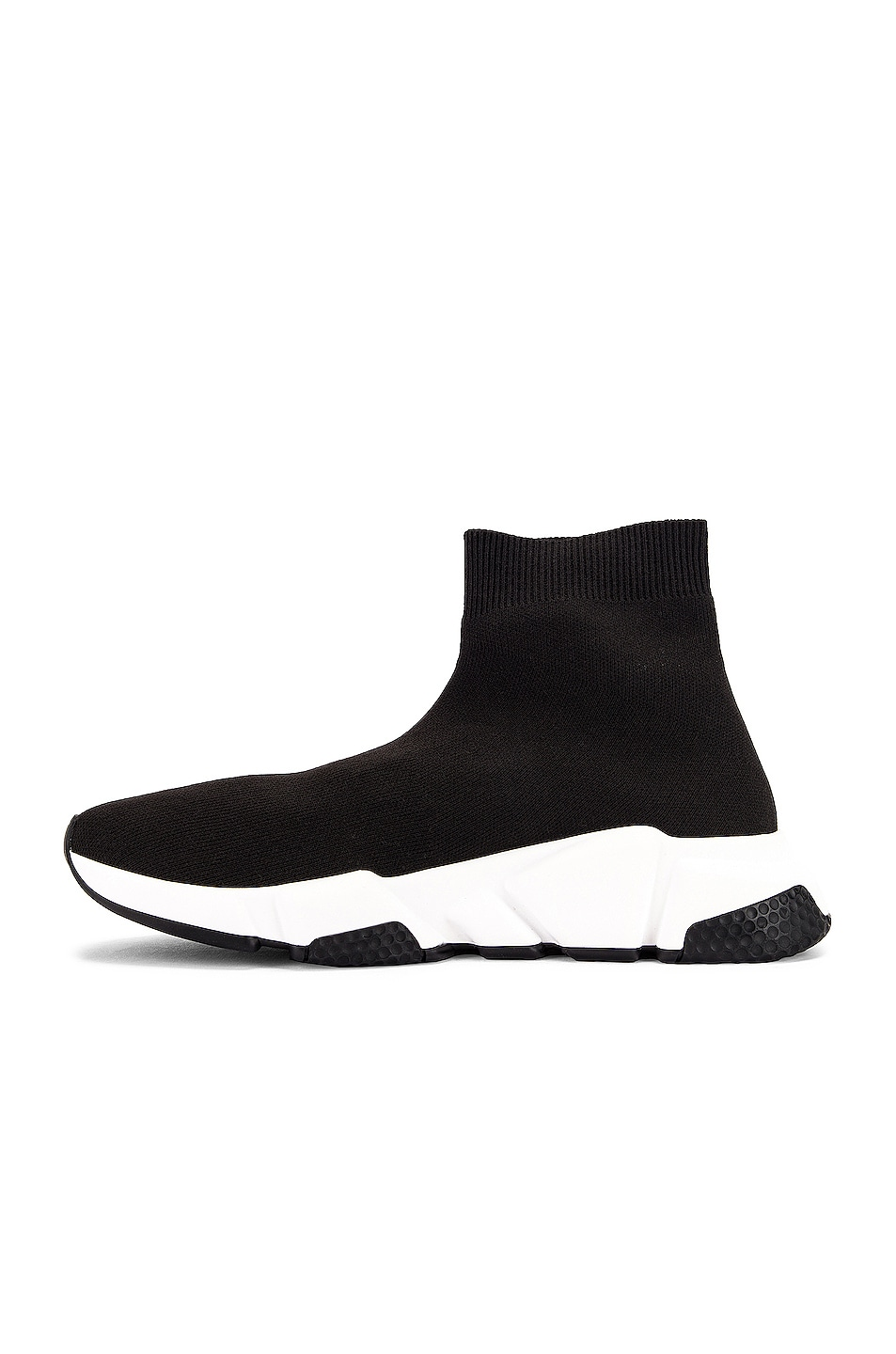 Image 5 of Balenciaga Bicolor Speed Sneakers in Black & White