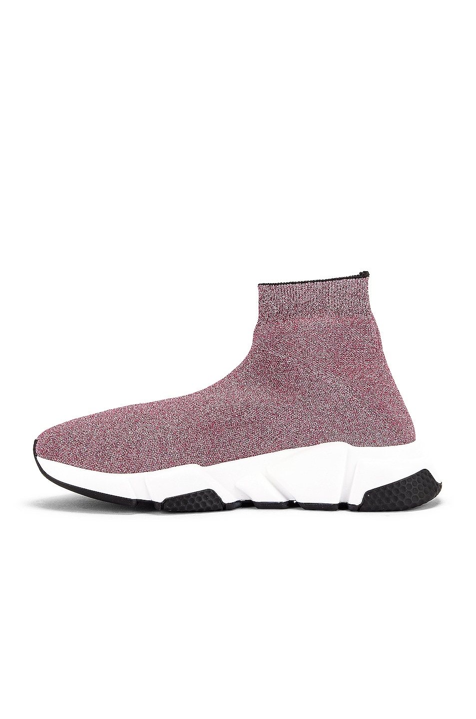 Image 5 of Balenciaga Bicolor Speed Sneakers in Pink & White & Black