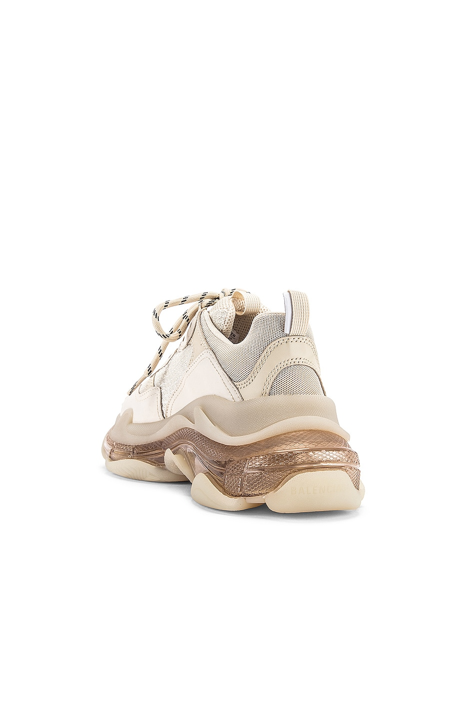 Image 3 of Balenciaga Triple S Sneakers in Off White