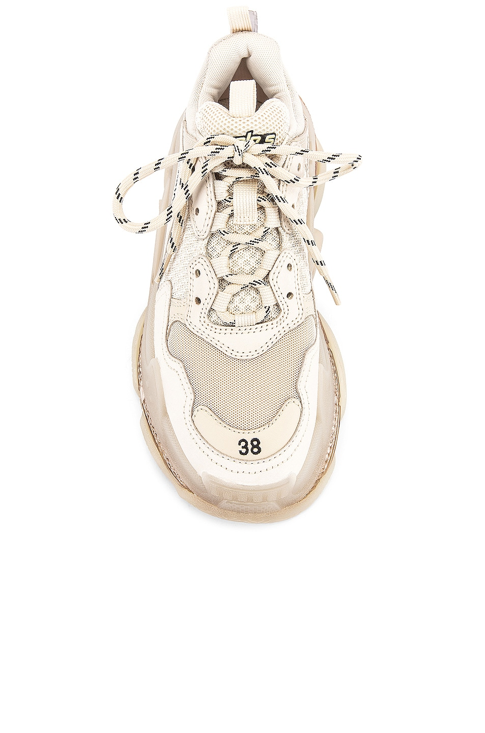 Image 4 of Balenciaga Triple S Sneakers in Off White
