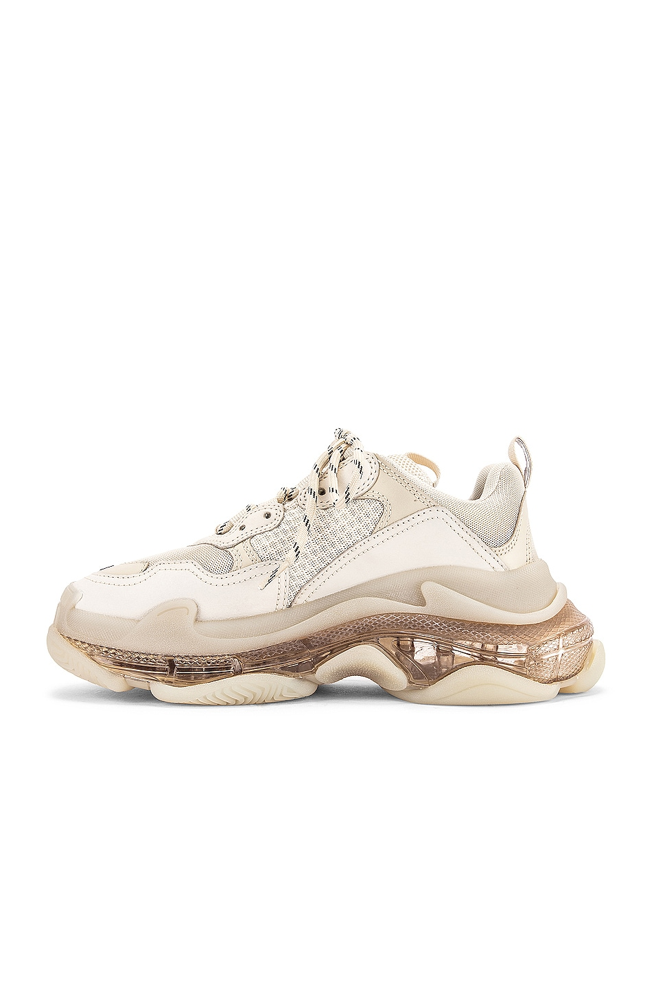 Image 5 of Balenciaga Triple S Sneakers in Off White