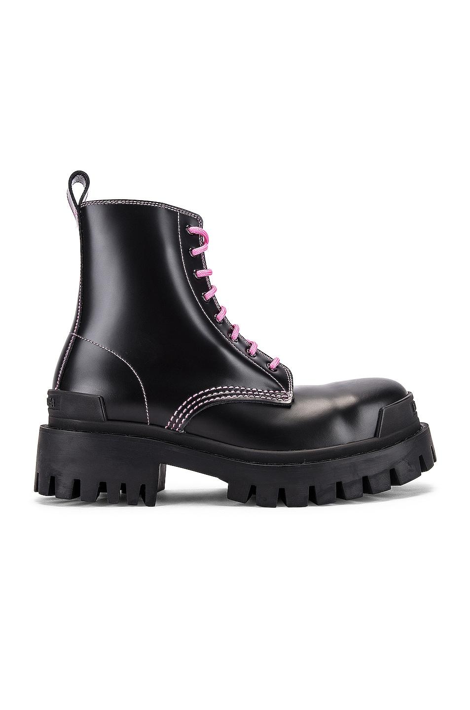 Image 1 of Balenciaga Strike Booties in Black & Pink