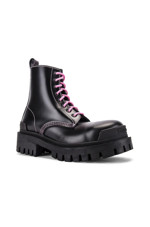 Image 2 of Balenciaga Strike Booties in Black & Pink