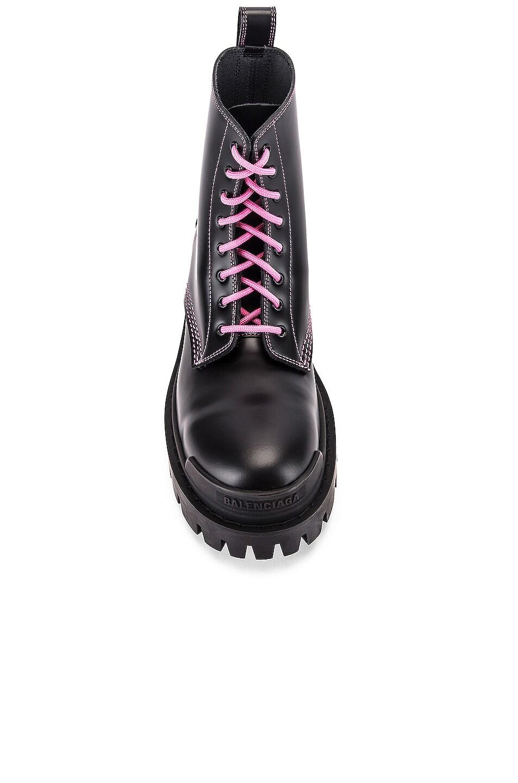 Image 4 of Balenciaga Strike Booties in Black & Pink