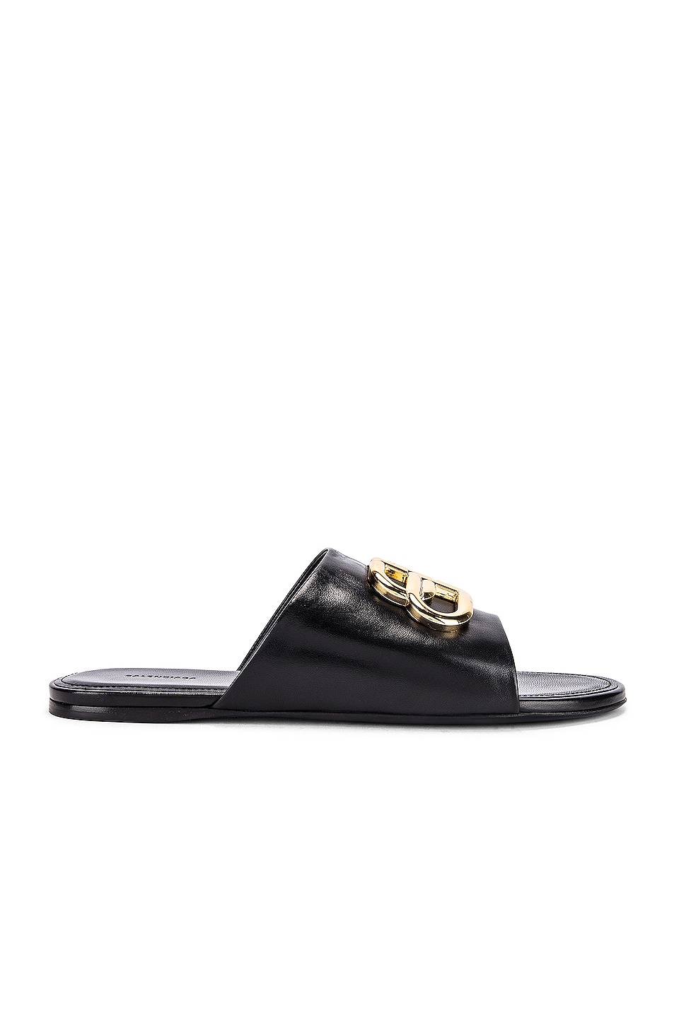 Image 2 of Balenciaga Ovall BB Slides in Black & Gold