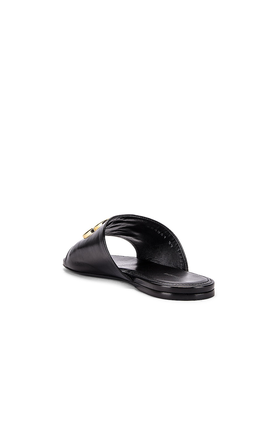 Image 4 of Balenciaga Ovall BB Slides in Black & Gold