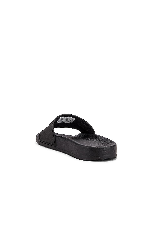 Image 4 of Balenciaga Rubber Logo Pool Slides in Black & White