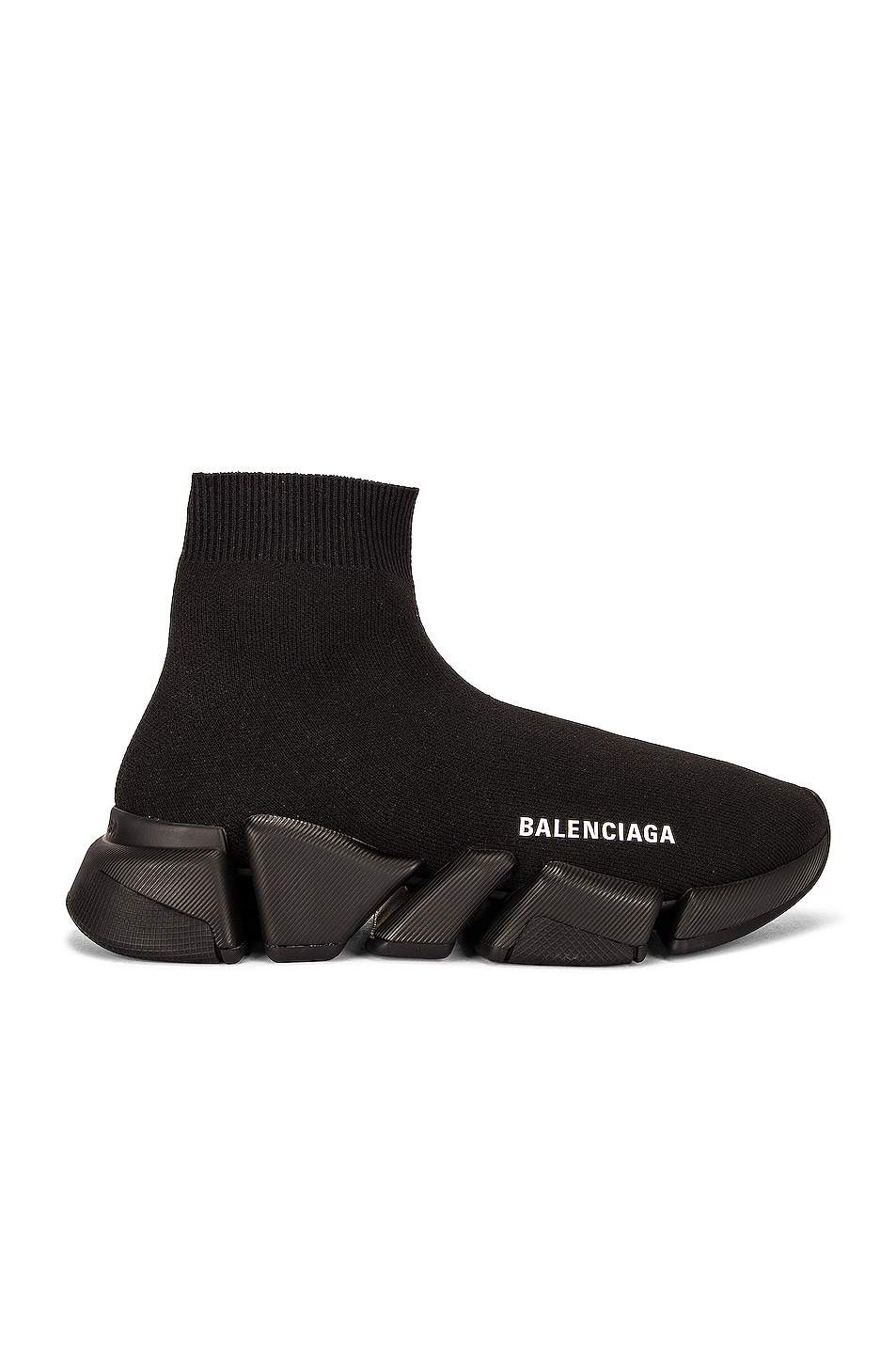 Image 1 of Balenciaga Speed Light Sneakers in Black & Black & Black