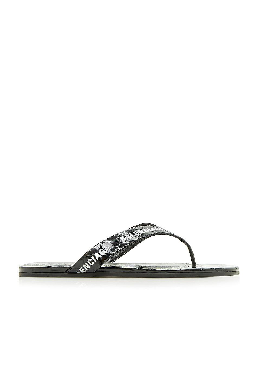 Image 1 of Balenciaga Round Thong Sandals in Black & White