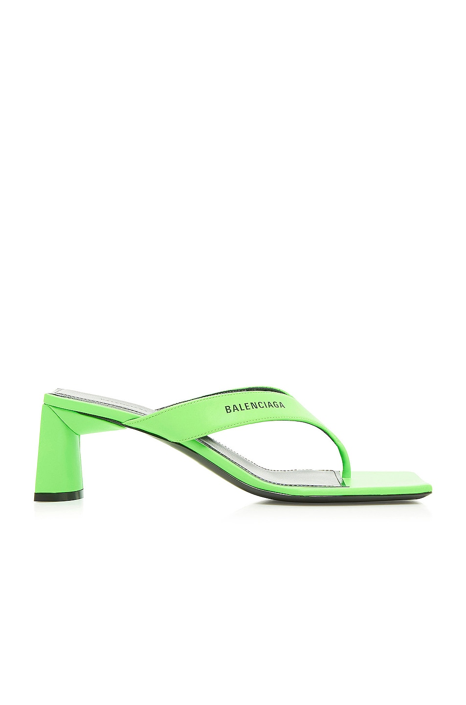 Image 1 of Balenciaga Double Square Sandals in Fluo Green & Black