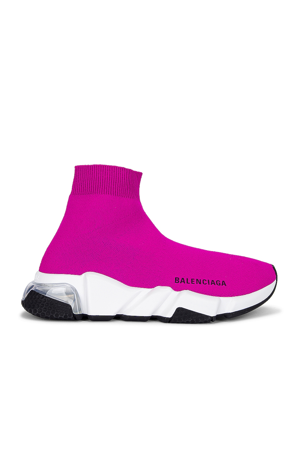 Image 1 of Balenciaga Speed Light Sneakers in Fuxia & White