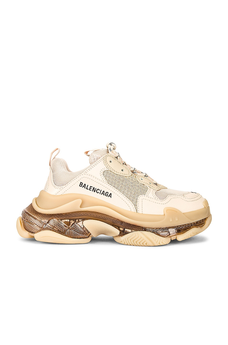 Image 1 of Balenciaga Triple S Clear Sole Sneakers in Nude