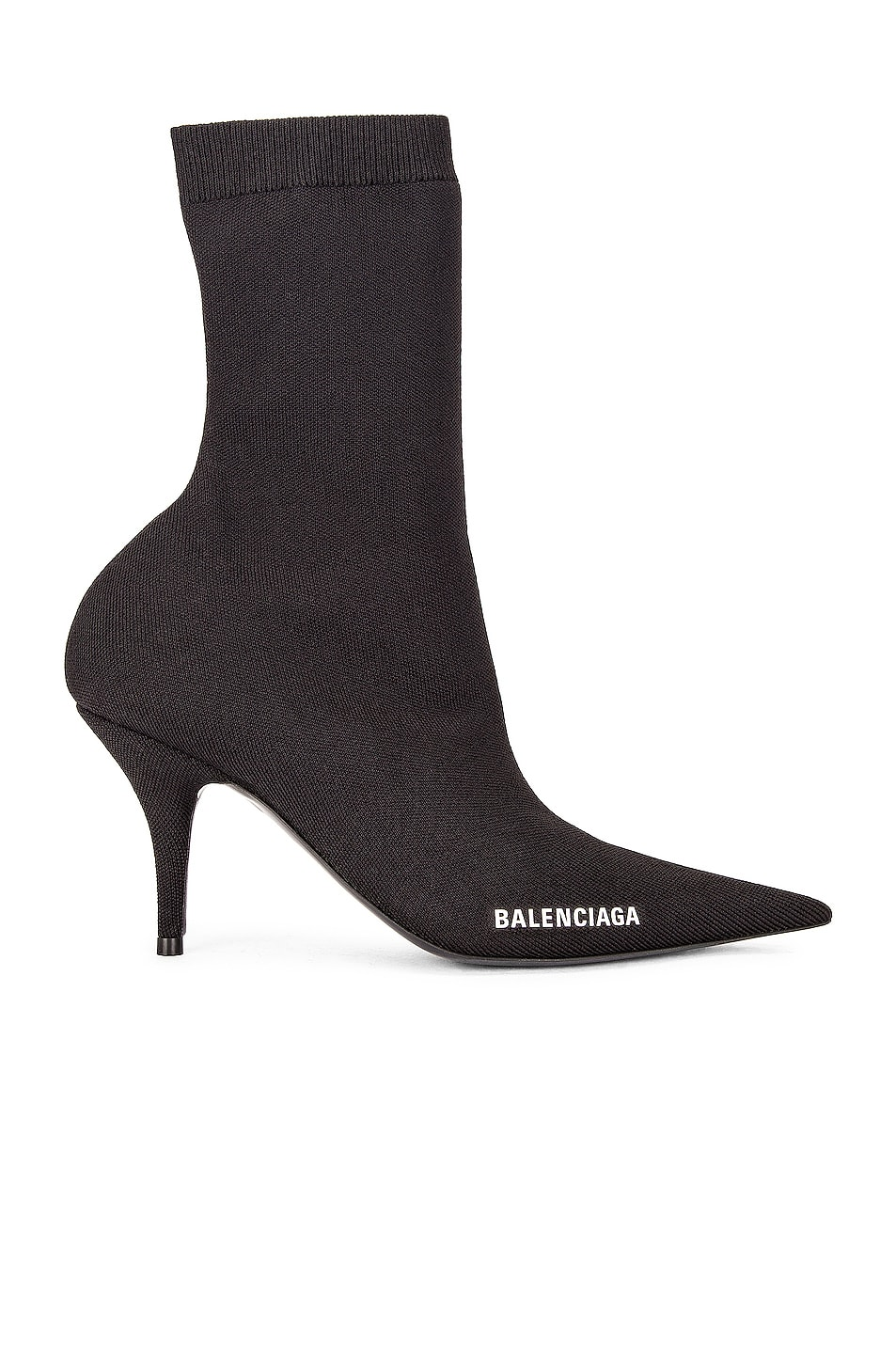 Image 1 of Balenciaga Knife Booties in Black & White