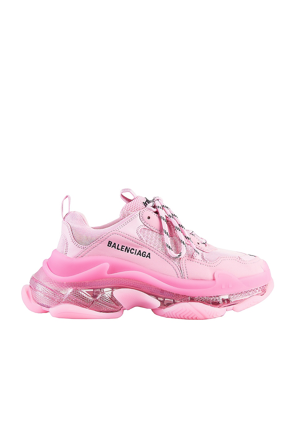 Image 1 of Balenciaga Triple S Clear Sole Sneakers in Pink