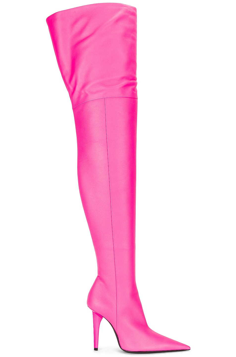 Image 1 of Balenciaga Knife Shark Over the Knee Boots in Fluo Pink