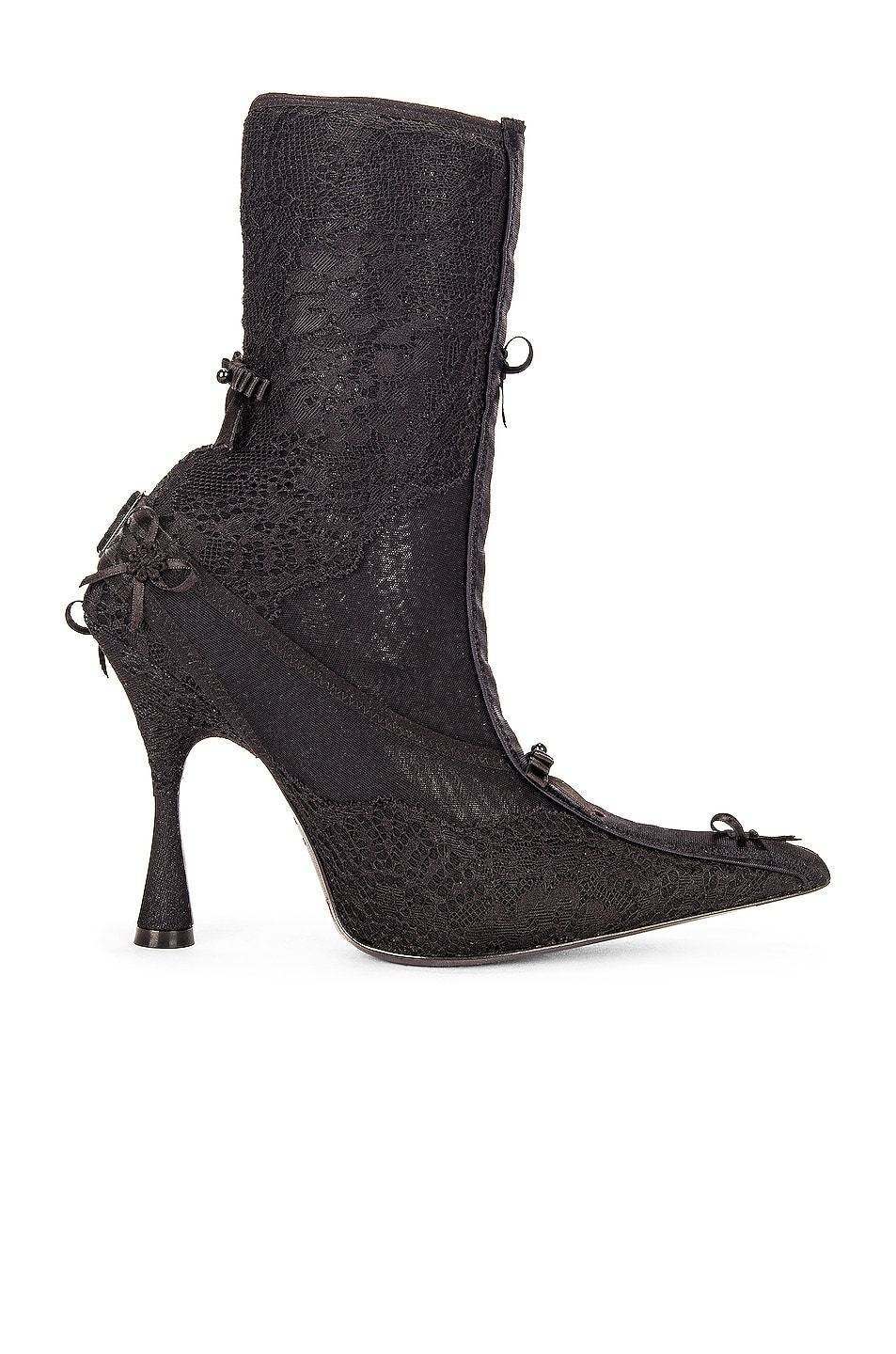 Image 1 of Balenciaga Lingerie Knife Booties in Black