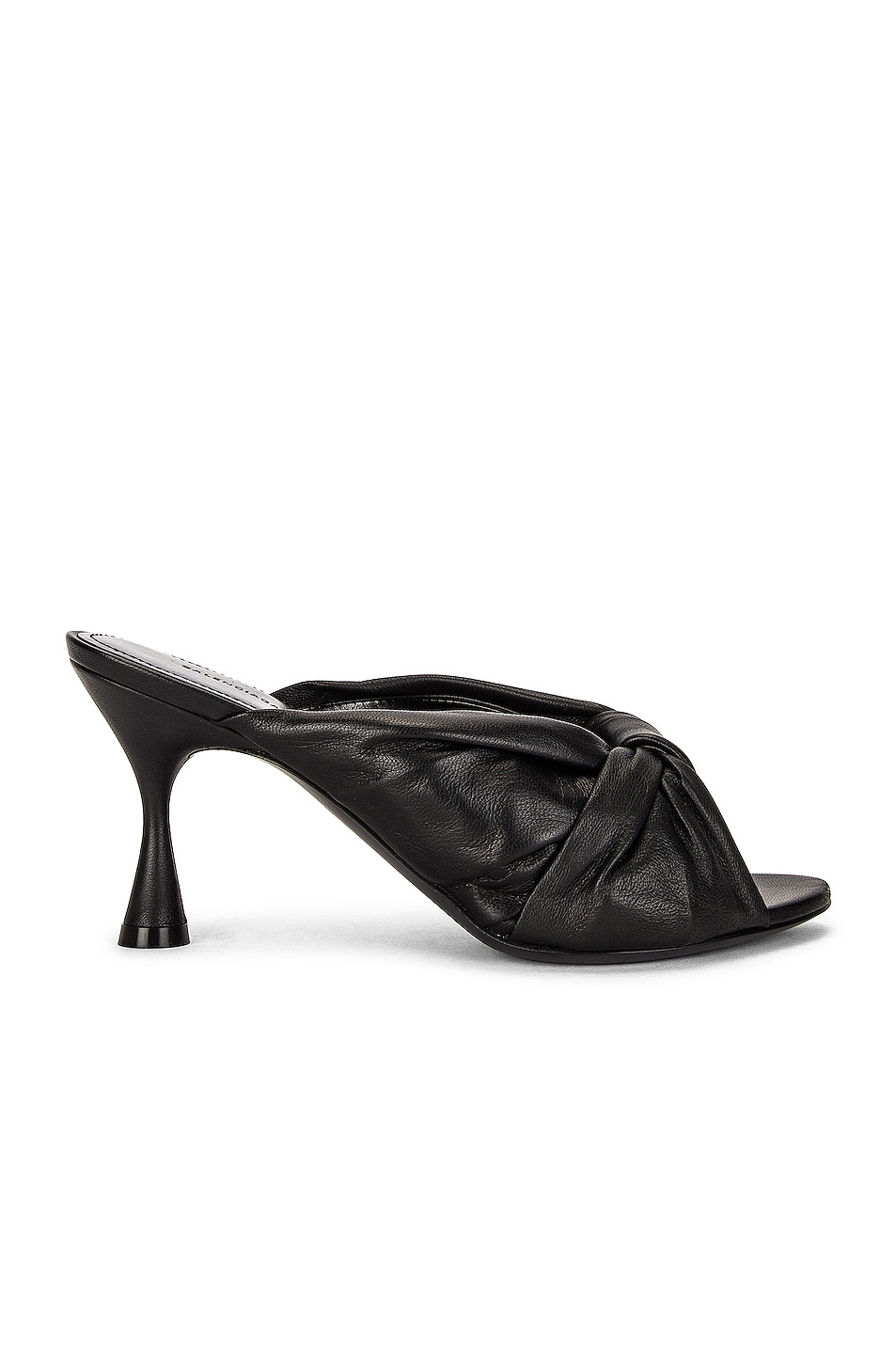 Image 1 of Balenciaga Drapy Heel Sandals in Black