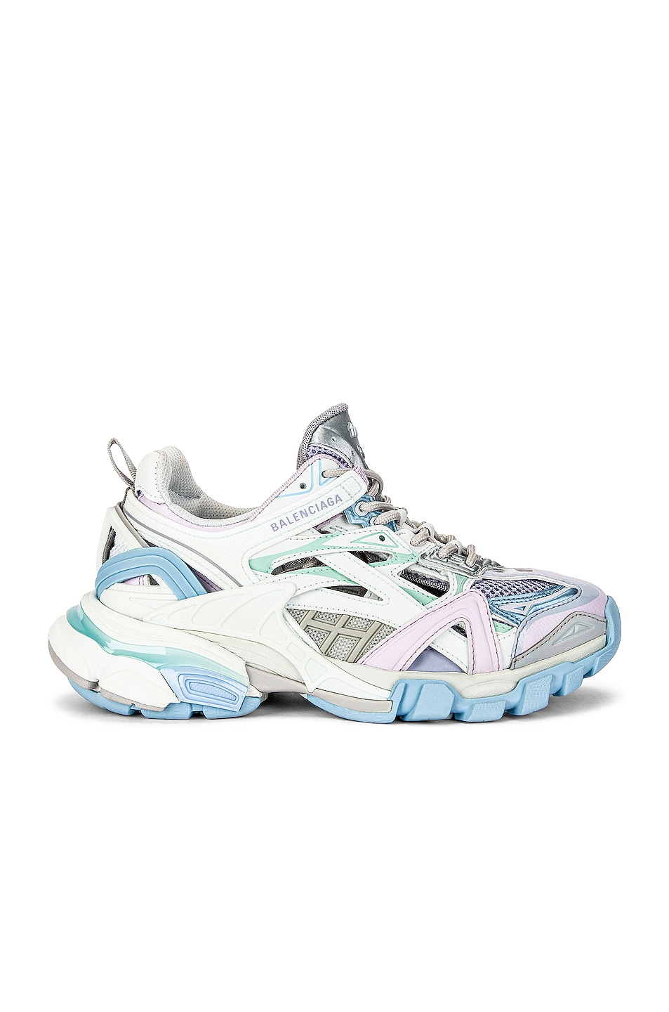 Image 1 of Balenciaga Track Sneakers in White & Blue