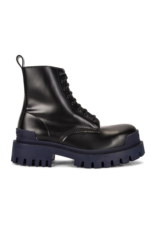 Image 1 of Balenciaga Strike Boots in Black