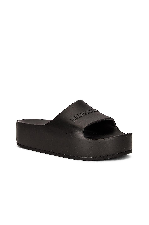 Image 1 of Balenciaga Mono Slides in Black