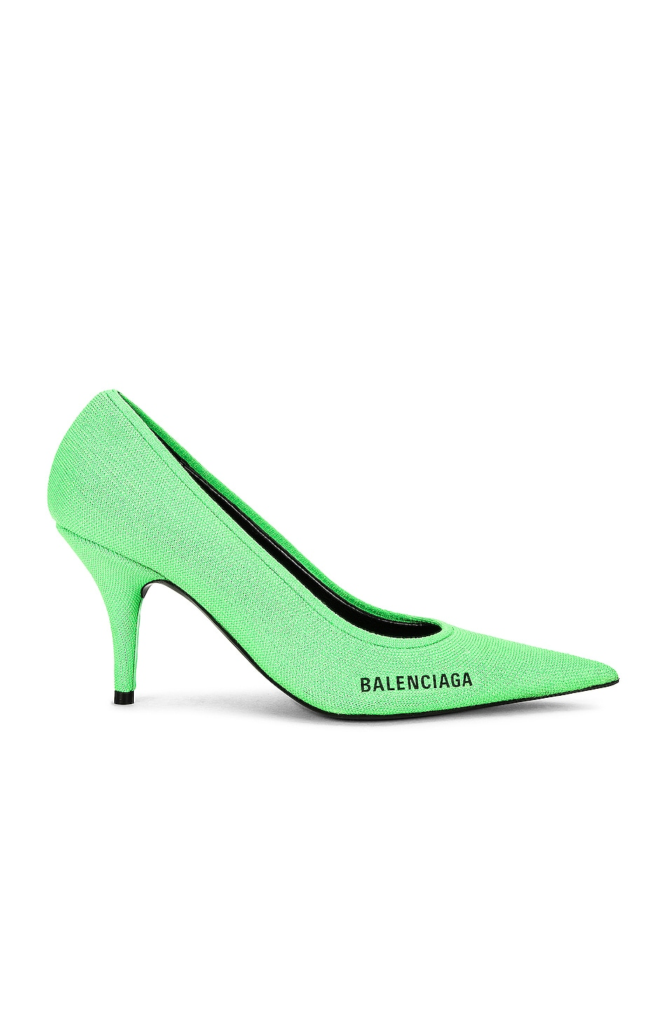 Image 1 of Balenciaga Knife Knit Pumps in Fluo Green & Black