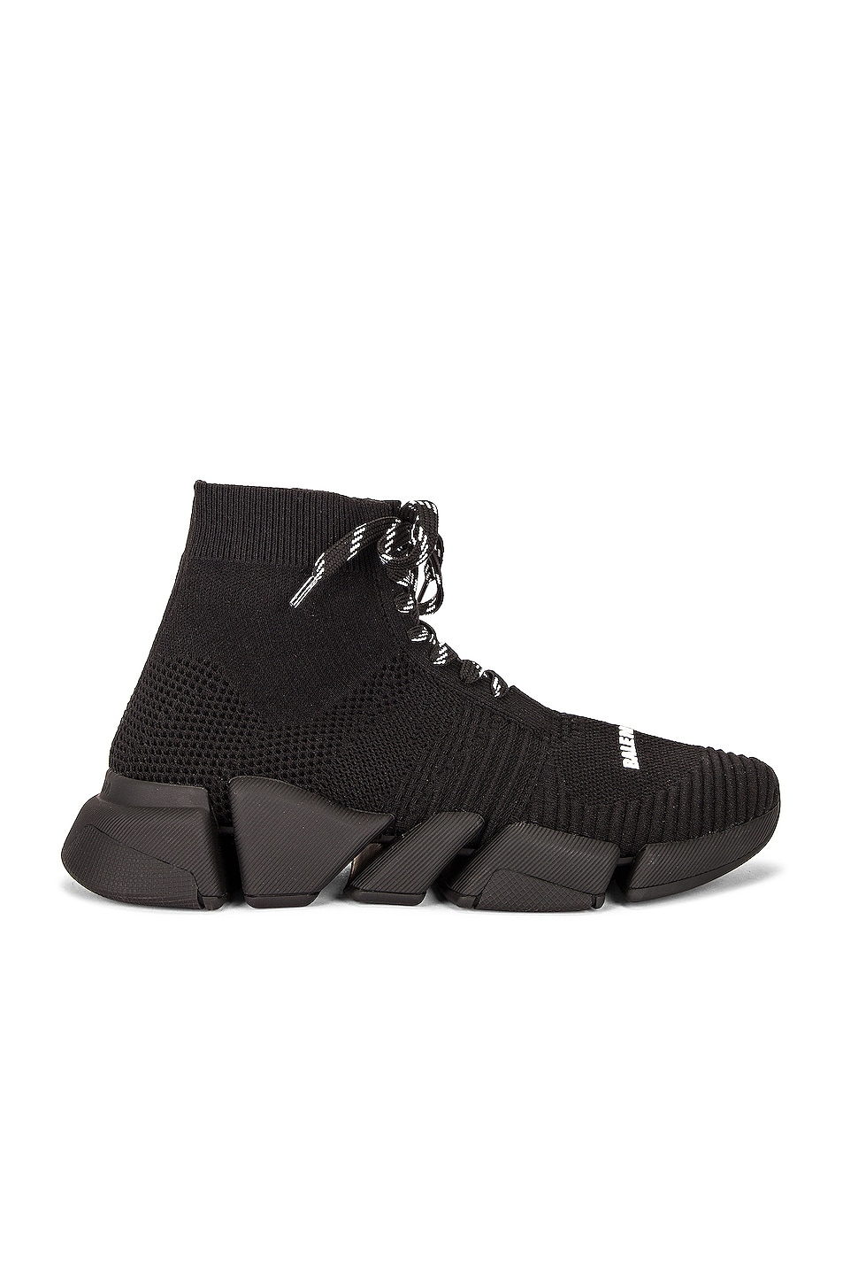 Image 1 of Balenciaga Lace Up Speed 2.0 Sneakers in Black