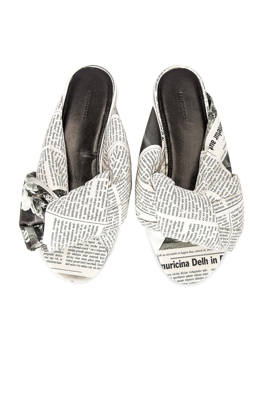Image 1 of Balenciaga Drapy Sandals in White & Black