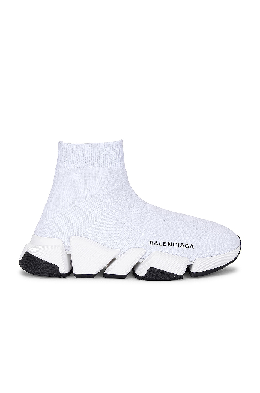 Image 1 of Balenciaga Speed 2.0 Lt Sneakers in White & White & Black