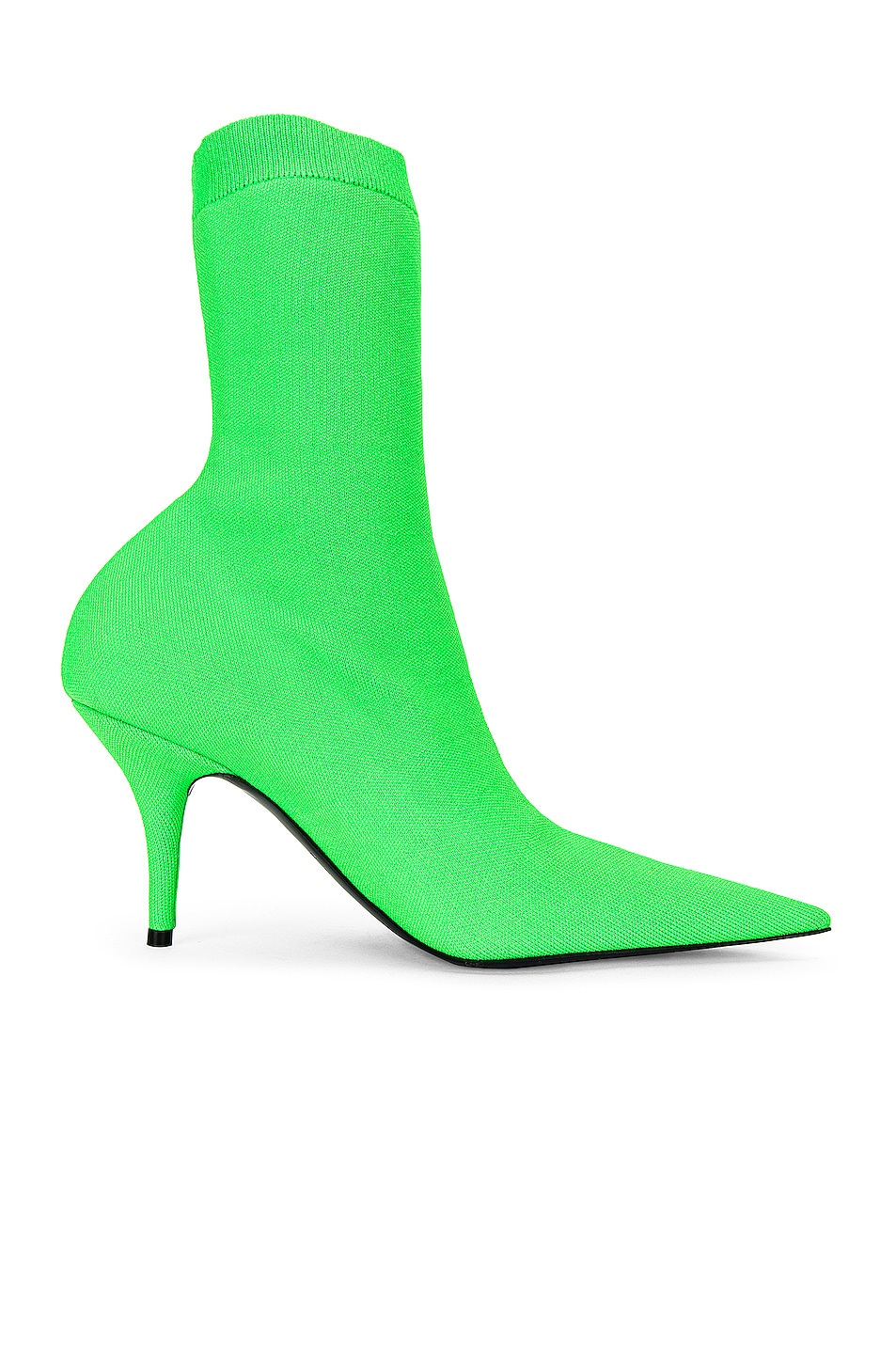 Image 1 of Balenciaga Knife Knit Booties in Fluo Green & Black