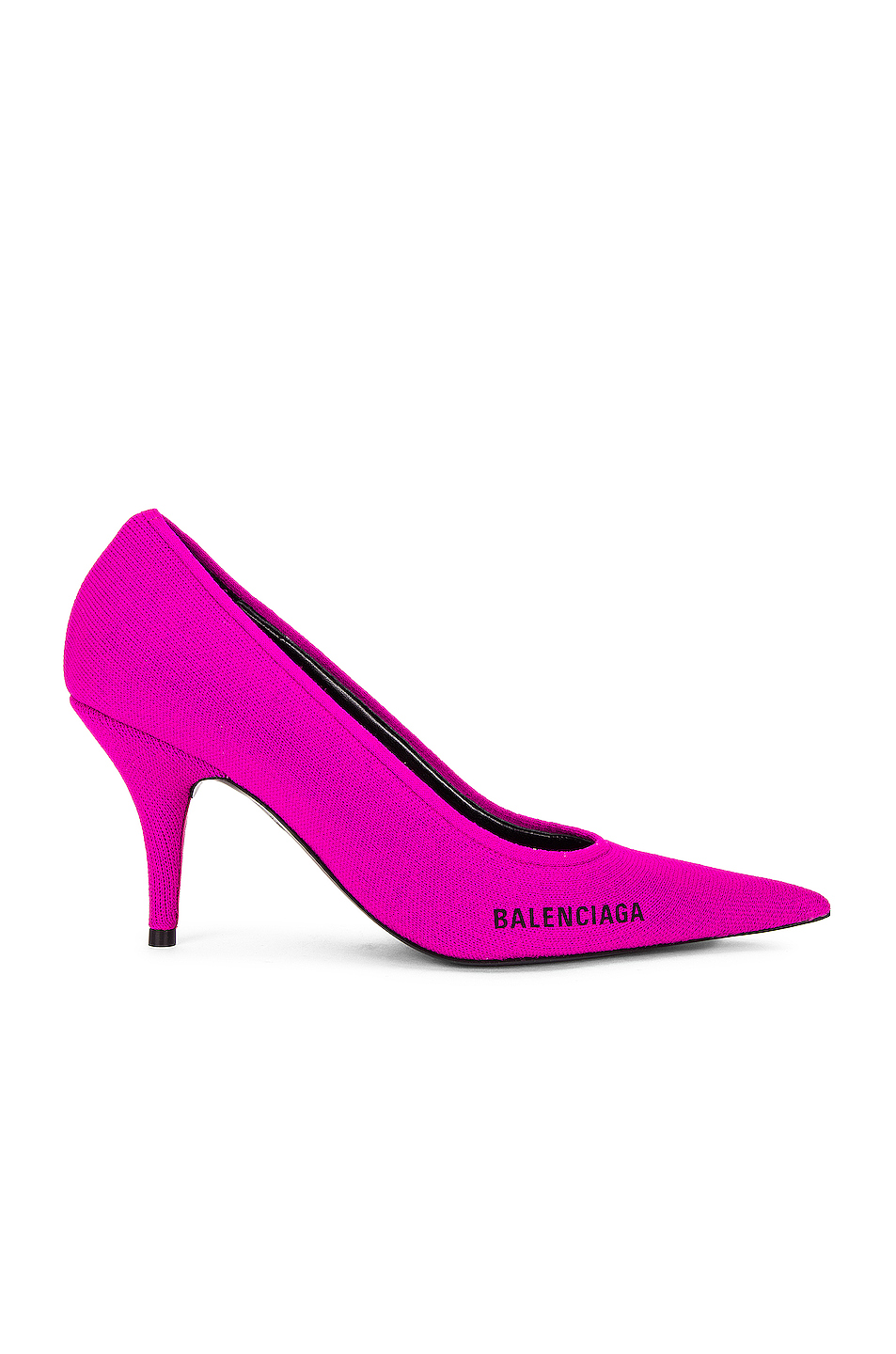 Image 1 of Balenciaga Knife Knit Pumps in Fuxia & Black