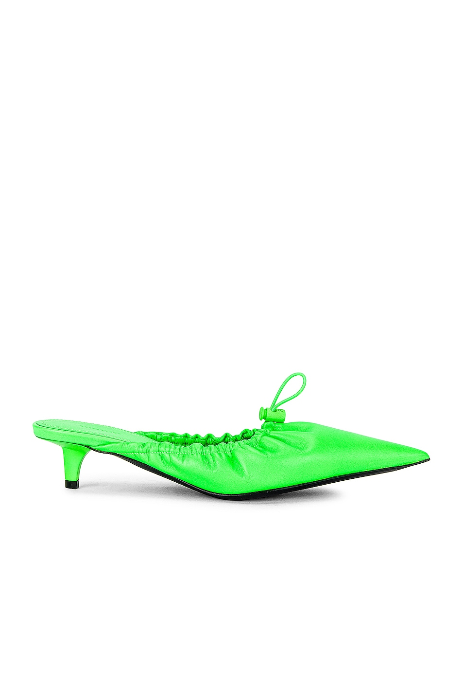 Image 1 of Balenciaga Scrunch Knife Mules in Fluo Green