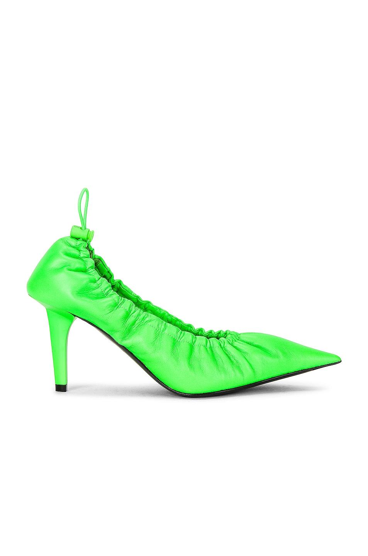 Image 1 of Balenciaga Scrunch Knife Pumps in Fluo Green