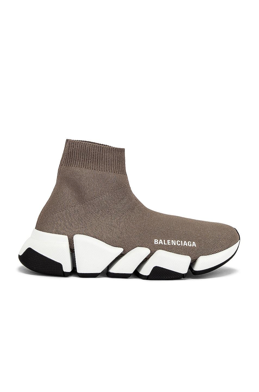 Image 1 of Balenciaga Speed 2.0 LT Sneakers in Dark Beige & White