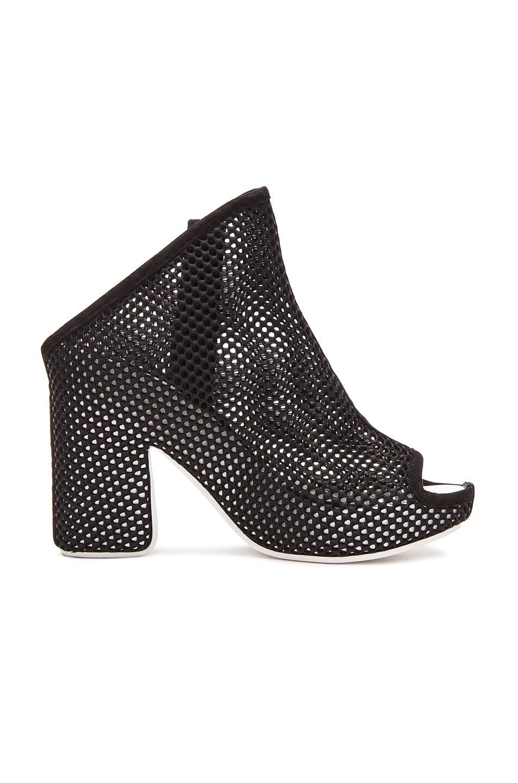 Image 1 of Balenciaga Chunky Heel Mesh Mules in Black & White