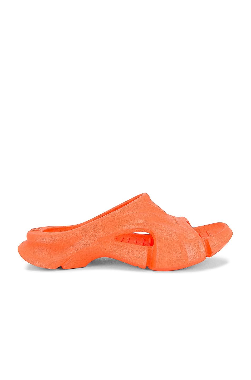Image 1 of Balenciaga Mold Sandals in Fluo Orange
