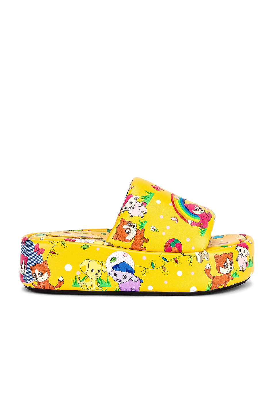 Image 1 of Balenciaga Rise Puppies Sandals in Yellow