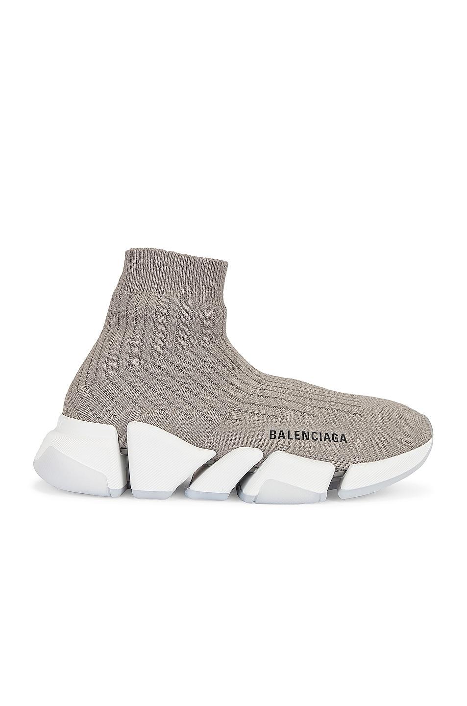 Image 1 of Balenciaga Speed 2.0 Lt Sneakers in Balenciaga Grey & White & Transparent