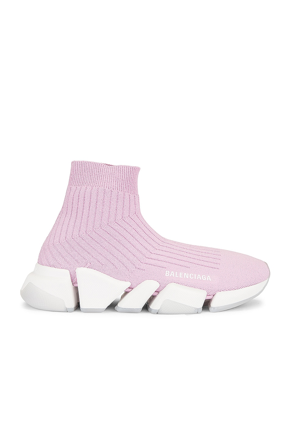 Image 1 of Balenciaga Speed 2.0 Lt Sneakers in Pink & White & Transparent